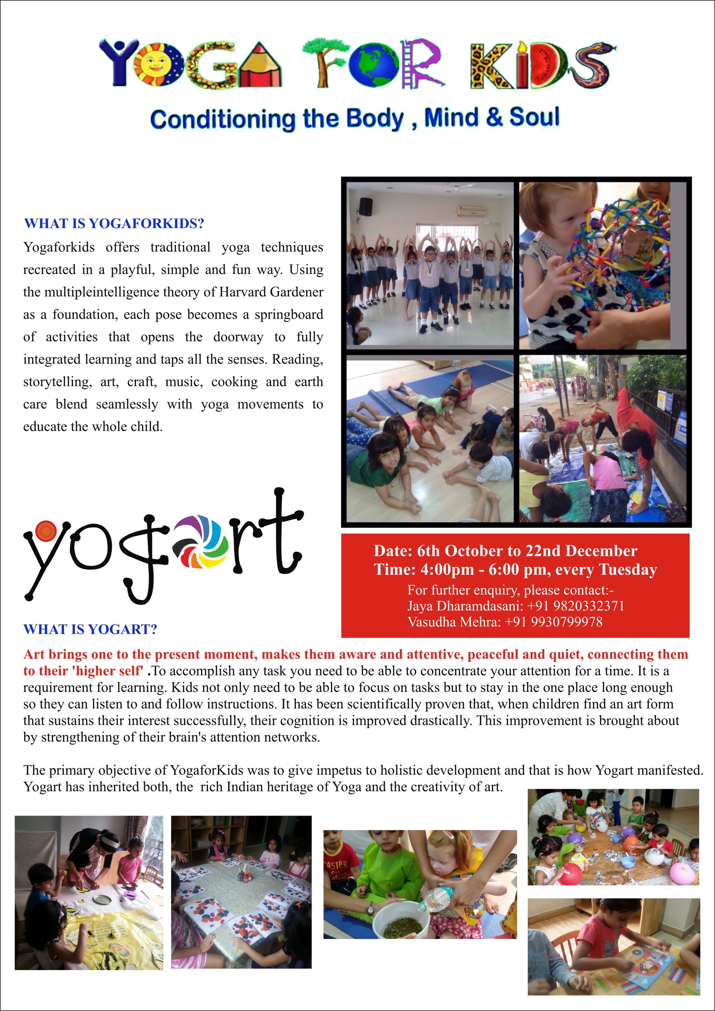Yoga For Kids Classes Teacher Training